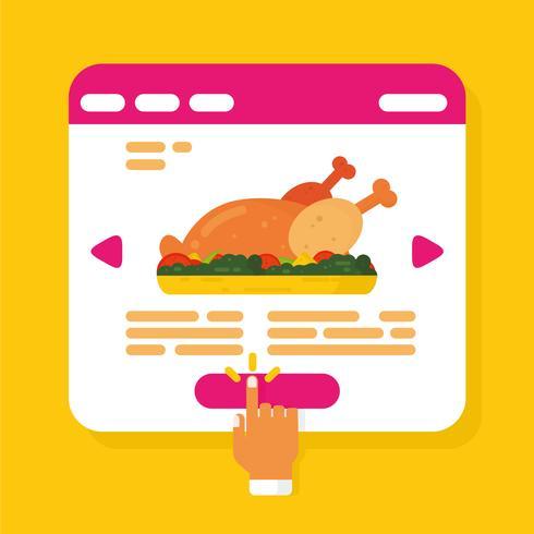 Vettore di ordine alimentare online