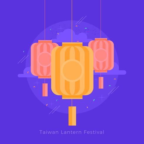 Illustrazione di vettore di festival di lanterna di Taiwan