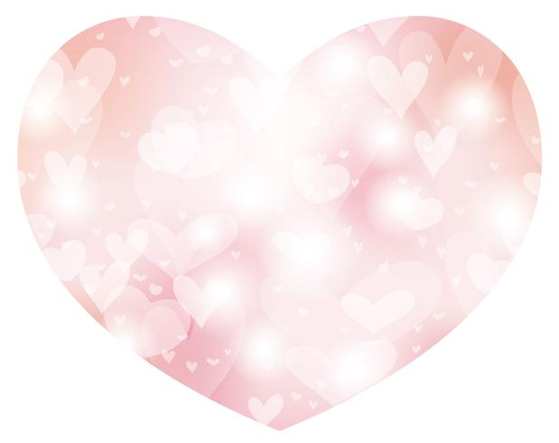 Valentine's Day/bridal abstract heart shape background. vector