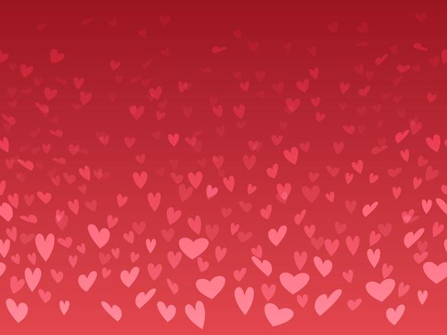Fondo inconsútil del día de tarjeta del día de San Valentín con el modelo de la forma del corazón.