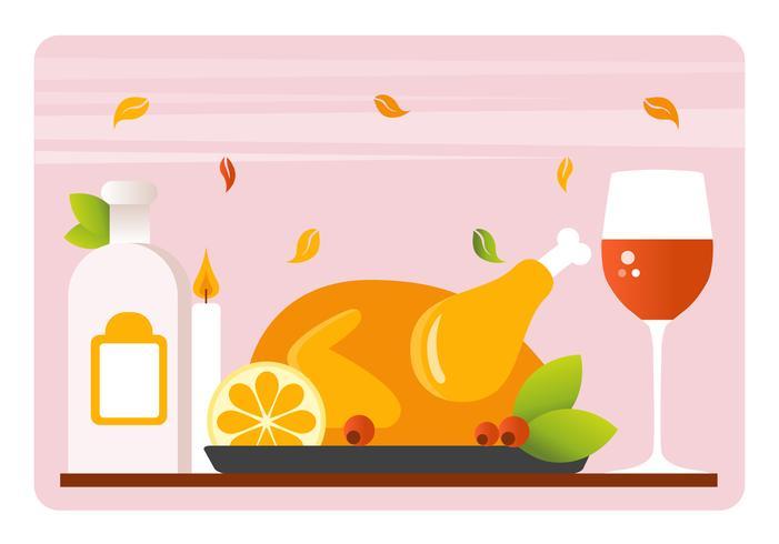 Thanksgiving Background Illustration