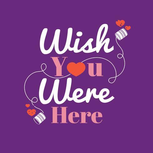 Önskar du var här meddelande med tenn kan telefon och hjärta bakgrund