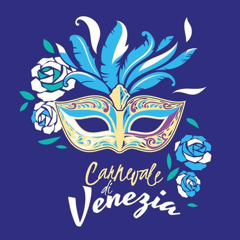 Ilustração de festa de carnaval de Veneza