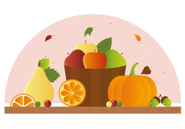 Vector elementos de otoño y la ilustración