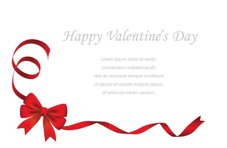Valentine's Day/bridal card template with text space. vector