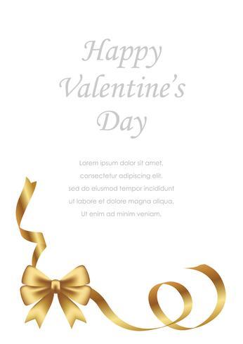 Valentijnsdag / bruids kaartsjabloon met tekst ruimte