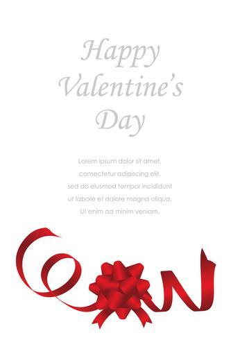Modello di carta di San Valentino / sposa con lo spazio del testo