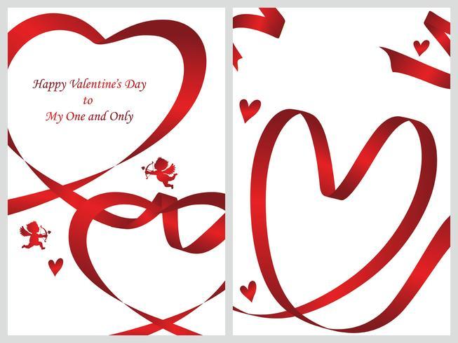 Conjunto de dos plantillas de tarjetas de San Valentín.