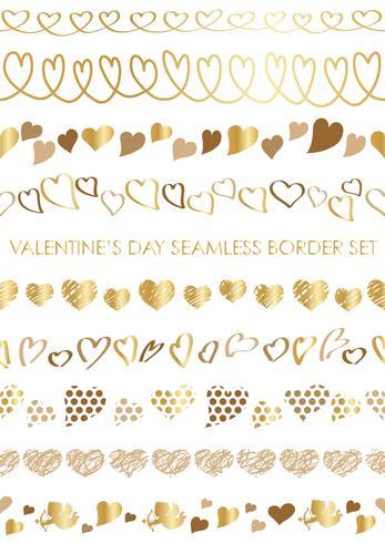 Satz nahtlose Grenzen des Valentinstags.