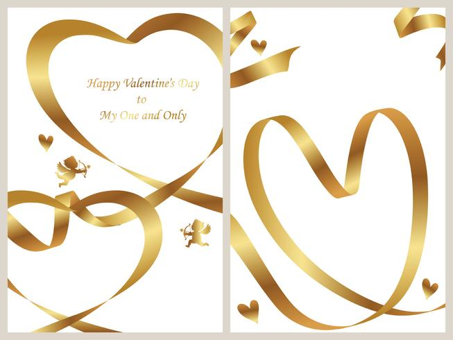 Set of two Valentine's Day card templates. vector