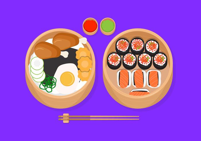 Bento Box Vector Illustration