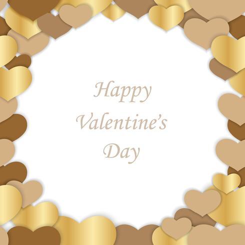 Ejemplo inconsútil del marco del vector del día de tarjeta del día de San Valentín