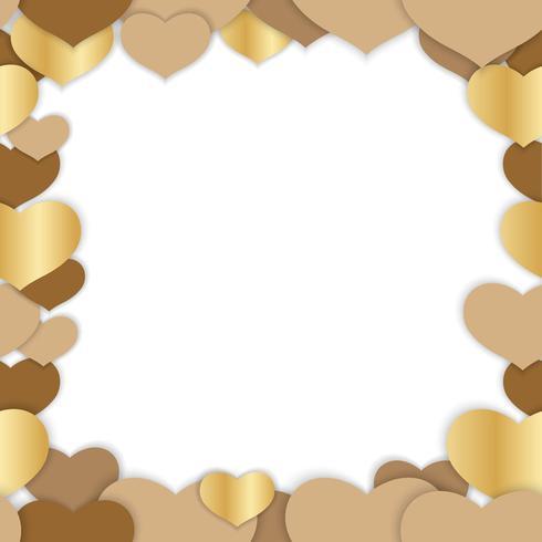 Valentine's Day seamless vector frame illustration.