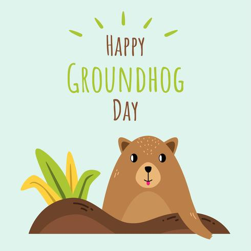 Glücklicher Groundhog Day-Vektor