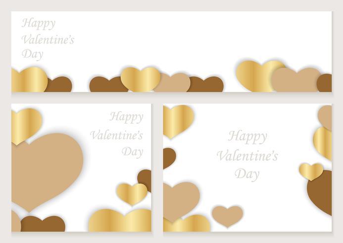 Conjunto de marcos / tarjetas de San Valentín.