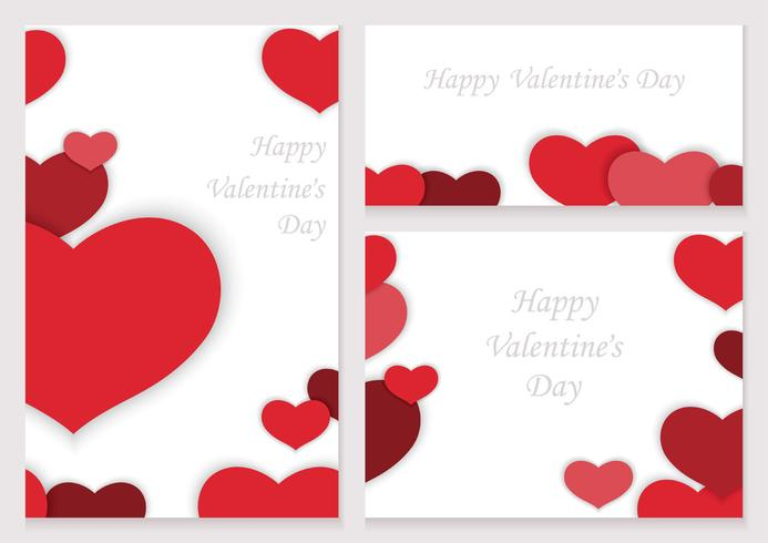 Set Of Valentine S Day Frames Cards Download Free Vector Art