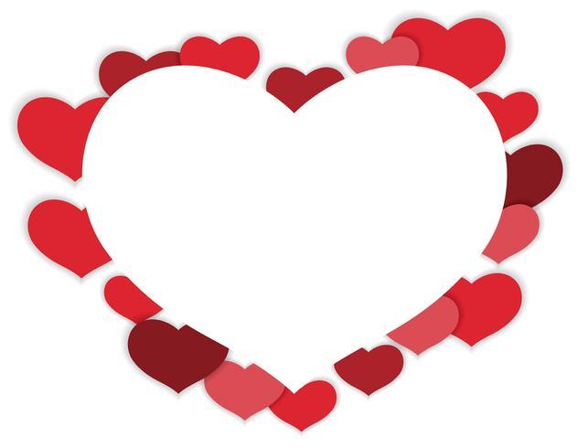Cadre en forme de coeur de vecteur Saint Valentin.