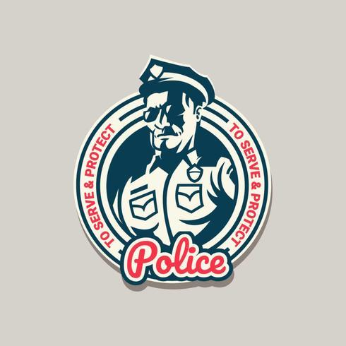 Logo della polizia vettore
