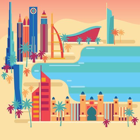 Sevärdheter i Dubai nära stranden