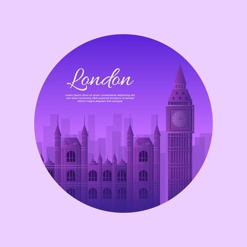 Punto di riferimento di Londra vettore