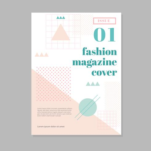 Couverture de magazine de mode élégant
