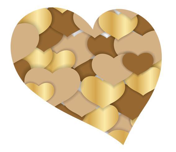 Fondo di forma del cuore dell'estratto di San Valentino. vettore