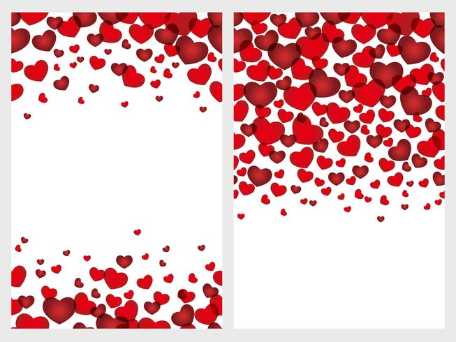 Set of two Valentine's Day seamless background. vector