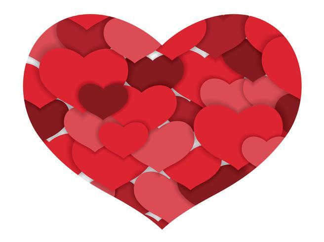 Fondo de la forma del corazón del extracto del día de tarjeta del día de San Valentín.