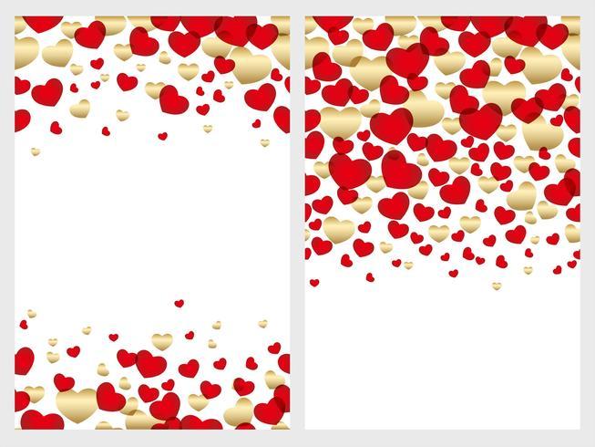 Set van twee Valentijnsdag naadloze achtergrond.