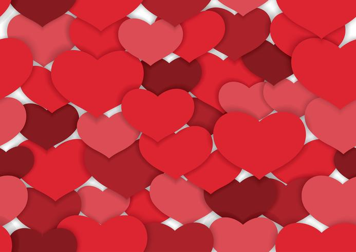 Valentine's Day seamless vector background.