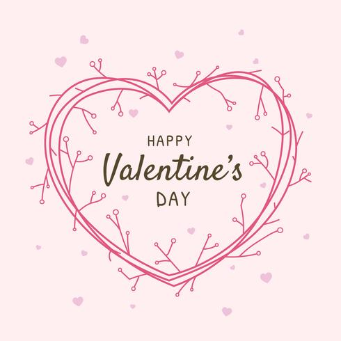 Happy Valentines Day Frame Greeting Vector