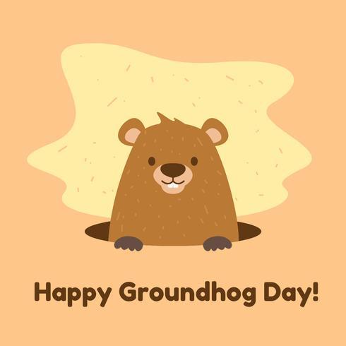 gelukkige groundhog-dag