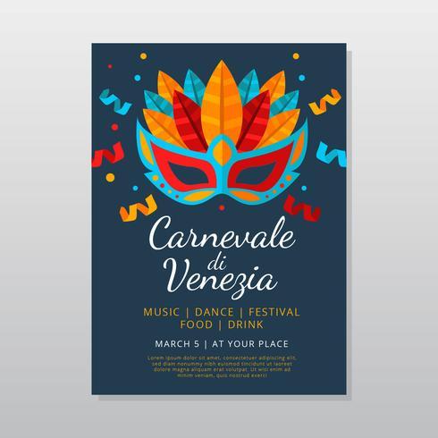 Carnevale Di Venezia Plakatschablone