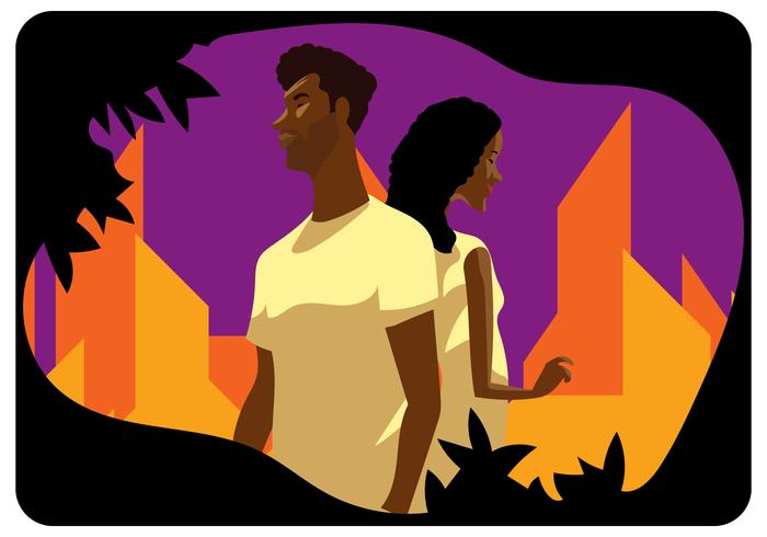 African American Couple vector