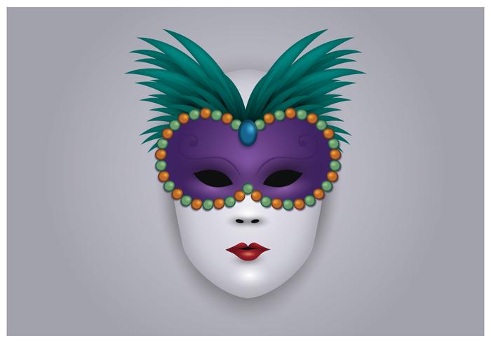 Maschera di Carnevale di Venezia vettore