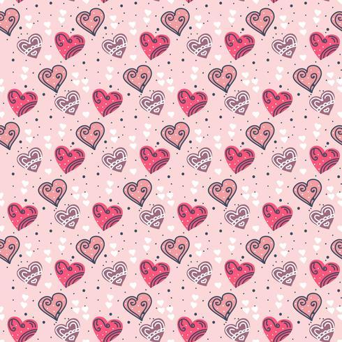 Valentine harten vector patroon