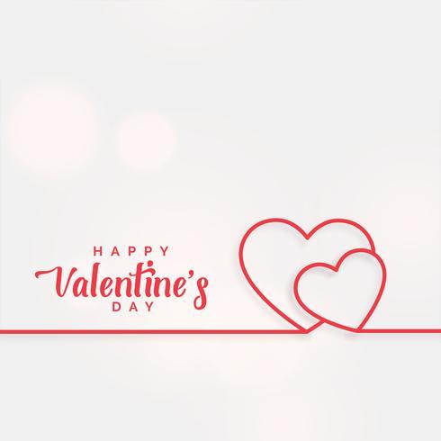 linje hjärtan bakgrund för valentines dag