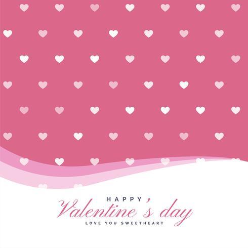 elegantes Herzmuster für Valentinstag