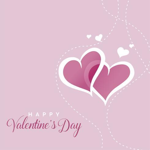 söta hjärtan bakgrund för valentines dag