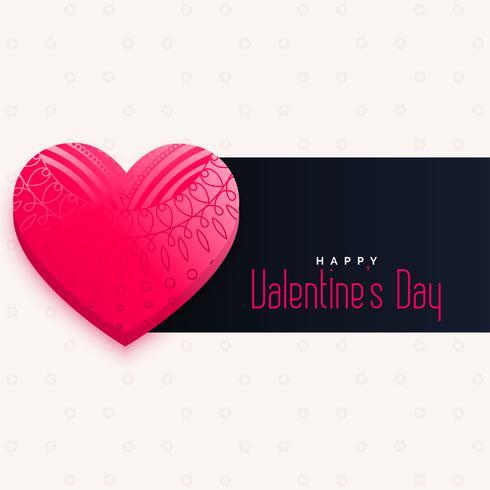 Corazón rosado decorativo del día de tarjetas del día de San Valentín con el espacio del texto