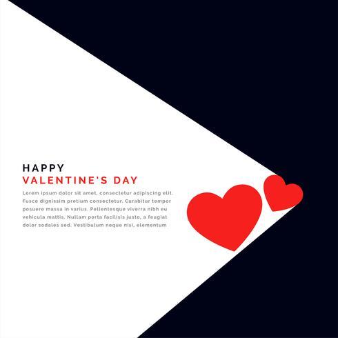 platt bakgrund med två hjärtan och textutrymme för valentinsdag