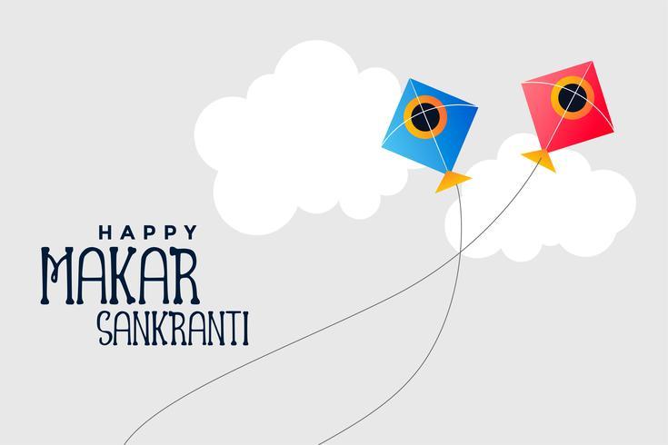 cometas volando en el cielo makar sankranti festival