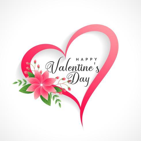 schönes Valentinstagherz mit Blumendekoration