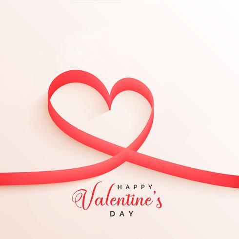elegant valentines day ribbon hearts background