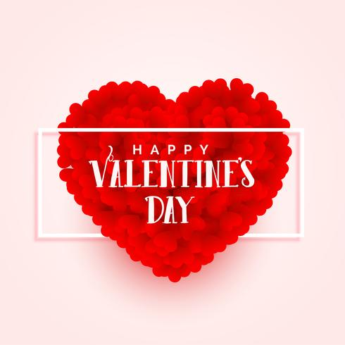 diseño de banner de corazón 3d de día de San Valentín
