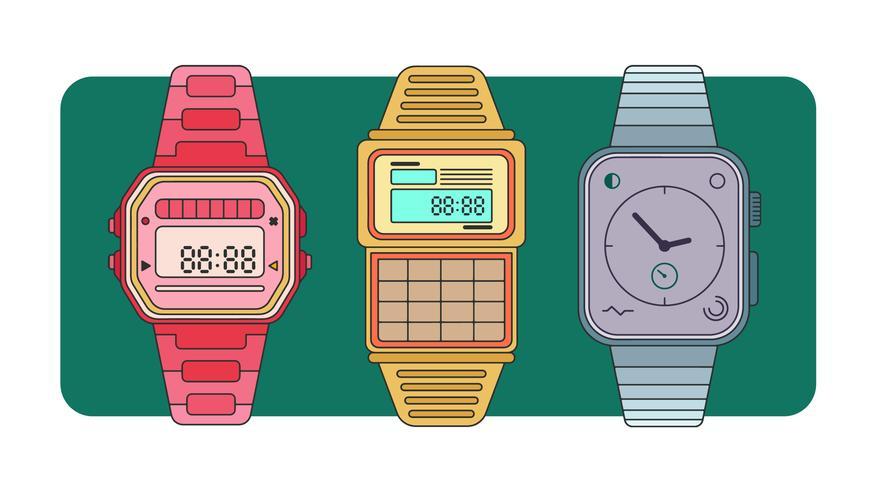 Horloges Vector