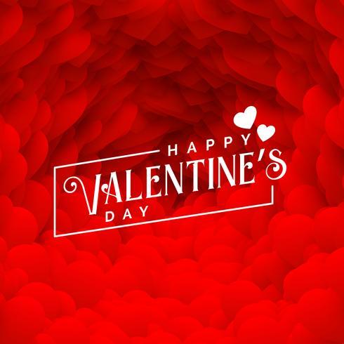 mooie rode harten achtergrond voor happy Valentijnsdag
