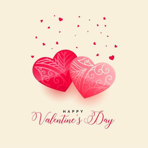 lyckliga valentiner dag vackra hjärtan hälsning