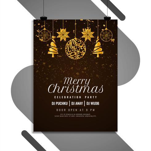 Progettazione moderna dell'aletta di filatoio di celebrazione allegra di Buon Natale vettore