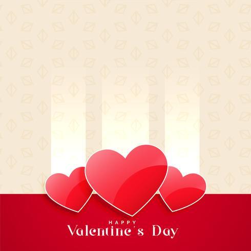 Valentinstag glänzenden Herzen Hintergrund